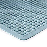Modrá protišmyková kúpeľňová vaňová rohož FLOMA - dĺžka 55 cm a šírka 55 cm