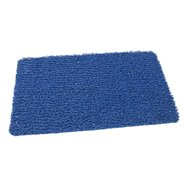 Modrá vinylová protišmyková sprchová rohož FLOMA Spaghetti - dĺžka 35 cm, šírka 59,5 cm a výška 1,2 cm