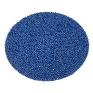 Modrá vinylová protišmyková sprchová guľatá rohož FLOMA Spaghetti - priemer 54 cm a výška 1,2 cm