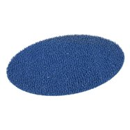 Modrá vinylová protišmyková sprchová oválna rohož FLOMA Spaghetti - dĺžka 39,5 cm, šírka 70 cm a výška 1,2 cm