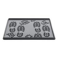 Čierny plastový odkvapkávač na topánky - dĺžka 35 cm, šírka 49 cm a výška 2 cm