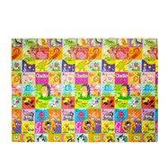 Detská skladacia penová hracia podložka Casmatino Pexeso - dĺžka 200 cm, šírka 140 cm a výška 1 cm