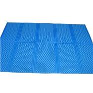 Modrá skladacie penová podložka Casmatino - dĺžka 200 cm, šírka 140 cm a výška 1 cm