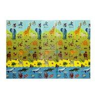 Detská skladacia penová hracia podložka Casmatino ABC Animals - dĺžka 200 cm, šírka 140 cm a výška 1 cm