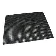 Čierna gumová vonkajšia vstupná rohož Octomat Mini - dĺžka 75 cm, šírka 100 cm a výška 1,25 cm