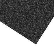 Čierna kobercová čistiaca zóna FLOMA Valeria (Bfl-S1) - dĺžka 100 cm, šírka 100 cm a výška 0,9 cm