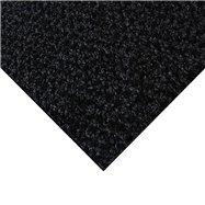 Čierna kobercová čistiaca zóna FLOMA Alanis - dĺžka 100 cm, šírka 100 cm a výška 0,75 cm