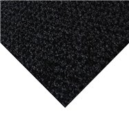 Čierna kobercová čistiaca zóna FLOMA Alanis - dĺžka 200 cm, šírka 100 cm a výška 0,75 cm