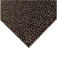 Hnedá kobercová čistiaca zóna FLOMA Alanis - dĺžka 100 cm, šírka 100 cm a výška 0,75 cm