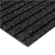 Čierna kobercová čistiaca zóna FLOMA Shakira - dĺžka 100 cm, šírka 100 cm a výška 1,6 cm