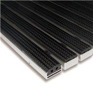 Gumová hliníková vonkajšia vstupná rohož FLOMA Alu Standard - dĺžka 100 cm, šírka 100 cm a výška 1,7 cm