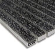 Textilné hliníková vnútorné vstupná rohož FLOMA Alu Standard - dĺžka 100 cm, šírka 100 cm a výška 1,7 cm