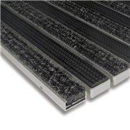 Textilné gumová hliníková vnútorné vstupná rohož FLOMA Alu Standard - dĺžka 100 cm, šírka 100 cm a výška 1,7 cm