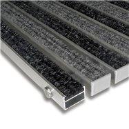 Textilné hliníková vnútorné vstupná rohož FLOMA Alu Standard - dĺžka 100 cm, šírka 100 cm a výška 2,2 cm