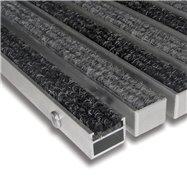 Textilné hliníková vnútorné vstupná rohož FLOMA Alu Standard - dĺžka 100 cm, šírka 100 cm a výška 2,7 cm