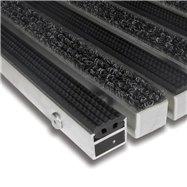Textilné gumová hliníková vnútorné vstupná rohož FLOMA Alu Standard - dĺžka 100 cm, šírka 100 cm a výška 2,7 cm