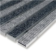 Hliníková textilné vnútorné vstupná rohož FLOMA Alu Low - dĺžka 100 cm, šírka 100 cm a výška 1 cm