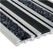 Textilné gumová hliníková vstupná rohož FLOMA Wella - dĺžka 100 cm, šírka 100 cm a výška 1,4 cm