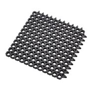 Čierna gumová čistiaca modulové vstupné rohož na hrubé nečistoty Master Flex D23 - dĺžka 50 cm, šírka 50 cm a výška 2,3 cm