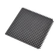 Čierna gumová čistiaca modulová vstupná rohož Master Flex D12 - dĺžka 50 cm, šírka 50 cm a výška 1,2 cm
