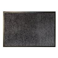 Šedá textilné vnútorné čistiace antibakteriálne vstupná rohož - dĺžka 90 cm, šírka 60 cm a výška 0,9 cm