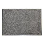 Šedá textilné vnútorné čistiace antibakteriálne vstupná rohož - dĺžka 120 cm, šírka 80 cm a výška 0,9 cm