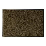 Hnedá textilné vnútorné čistiace antibakteriálne vstupná rohož - dĺžka 90 cm, šírka 60 cm a výška 0,9 cm