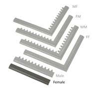 """Čierna nábehová hrana """"samica"""" MF Safety Ramps D23 / C23 - dĺžka 50 cm a šírka 6 cm"""
