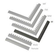 """Čierna nábehová hrana """"samica"""" MF Safety Ramps D23 / C23 - dĺžka 100 cm a šírka 6 cm"""