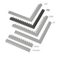 "Čierna nábehová hrana ""samica"" ""samec"" MF Safety Ramps D23 / C23 - dĺžka 100 cm a šírka 6 cm"