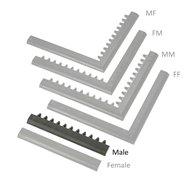 """Čierna nábehová hrana """"samec"""" MF Safety Ramps D23 / C23 - dĺžka 50 cm a šírka 6 cm"""