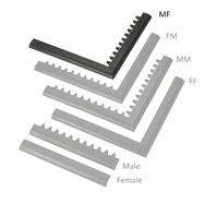 "Čierna nábehová hrana ""samec"" ""samica"" MF Safety Ramps D23 / C23 - dĺžka 100 cm a šírka 6 cm"
