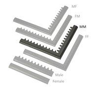 """Čierna nábehová hrana """"samec"""" MF Safety Ramps D23 / C23 - dĺžka 100 cm a šírka 6 cm"""