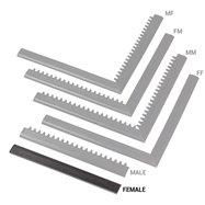 """Čierna nábehová hrana """"samica"""" MF Safety Ramps D12 / C12 Nitrile - dĺžka 50 cm a šírka 5 cm"""