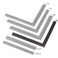 """Čierna nábehová hrana """"samica"""" MF Safety Ramps D12 / C12 Nitrile - dĺžka 100 cm a šírka 5 cm"""