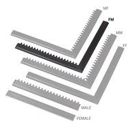 "Čierna nábehová hrana ""samica"" ""samec"" MF Safety Ramps D12 / C12 Nitrile - dĺžka 100 cm a šírka 5 cm"