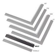 "Čierna nábehová hrana ""samec"" MF Safety Ramps D12 / C12 Nitrile - dĺžka 50 cm a šírka 5 cm"