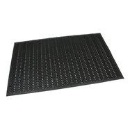Gumová dierovaná čistiaca vstupná rohož FLOMA Waves - dĺžka 90 cm, šírka 150 cm a výška 1,2 cm