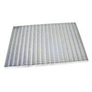 Kovová vonkajšia čistiaca vstupná rohož FLOMA Grid - dĺžka 40 cm, šírka 60 cm a výška 3 cm