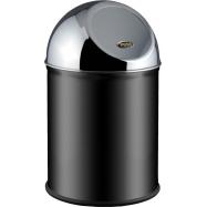 Odpadkový kôš typu Push ALDA Clean World 8 l, čierny