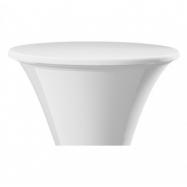 Elastický poťah ACCRA na dosku stola Ø 70cm, biely