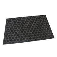 Gumová čistiaca vonkajšie vstupná rohož FLOMA Circles - dĺžka 40 cm, šírka 60 cm a výška 0,7 cm