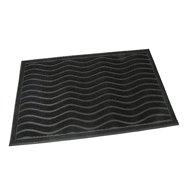 Gumová čistiaca vonkajšie vstupná rohož FLOMA Waves - dĺžka 40 cm, šírka 60 cm a výška 0,9 cm