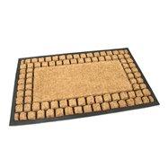 Kokosová čistiaca vonkajšie vstupná rohož FLOMA Rectangle - Squares - dĺžka 45 cm, šírka 75 cm a výška 2,2 cm