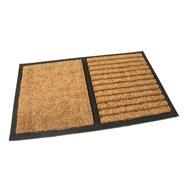 Kokosová čistiaca vonkajšie vstupná rohož FLOMA Stripes - Rectangle - dĺžka 45 cm, šírka 75 cm a výška 2,3 cm
