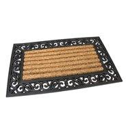 Kokosová čistiaca vonkajšie vstupná rohož FLOMA Stripes - Deco - dĺžka 45 cm, šírka 75 cm a výška 2,1 cm