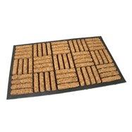 Kokosová čistiaca vonkajšie vstupná rohož FLOMA Lines - Squares - dĺžka 45 cm, šírka 75 cm a výška 2 cm