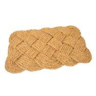 Kokosová vonkajšia čistiaca vstupná rohož FLOMA Jumbo Rectangle - dĺžka 45 cm, šírka 75 cm a výška 3,5 cm