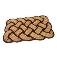 Kokosová vonkajšia čistiaca vstupná rohož FLOMA Jumbo Rectangle Brown - dĺžka 45 cm, šírka 75 cm a výška 3,5 cm