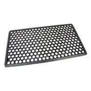 Gumová vonkajšia čistiaca vstupná rohož FLOMA Hexagon - dĺžka 40 cm, šírka 70 cm a výška 1,2 cm